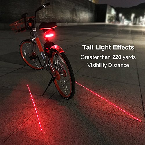 Ampulla Rechargeable Bike Tail Light LED - Remote Control, Turning Lights, Ground Lane Alert, Waterproof, Easy Installation for Cycling Safety Warning Light by Ampulla (Image #2)