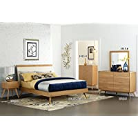 Homelegance Anika Danish Mid-Century Platform Bed, Eastern King, Light Oak