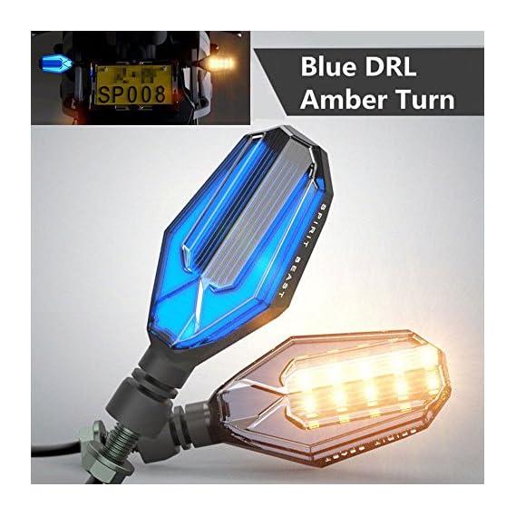 DELHI TRADERSS LED Signal Indicator DRL Light for Honda CB Hornet 160R (Blue and Amber)