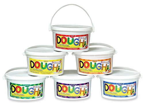 Hygloss Products Kids Scented Dazzlin' Modeling Play Dough, 3lb, One of Each Color, 6 Pack by Hygloss