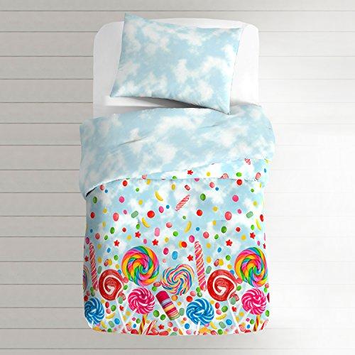dream FACTORY 2A8639C0BL Toddler Comforter Set, Blue