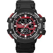 Timex Men's TW5M22700 DGTL 53mm Big Combo Black/Red/Negative Resin Strap Watch