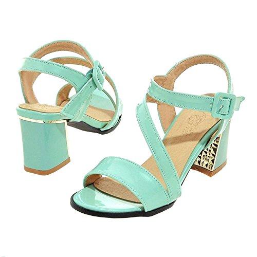 COOLCEPT Damen Simple Open Toe Sandalen Schuhe Green