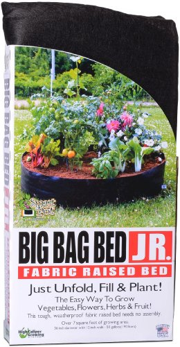 Smart Pots 12050 Big Bag Bed Fabric Raised Planting Bed, Junior , Black