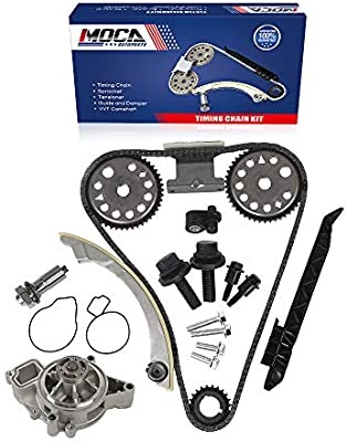 MOCA Timing Chain Kit /& Timing Cover Gasket /& Water Pump Kit /& Fuel Injector for 03-07 Saturn Ion-2//Ion-3 /& 02-05 Pontiac Grand Am//Sunfire /& 04-08 Chevy Malibu 2.2L L4 DOHC