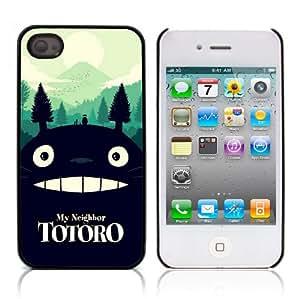 MobileONE - Carcasa para Apple iPhone 4 y 4S (con 3 protectores de pantalla y lápiz capacitivo, aluminio y plástico), diseño de Mi Vecino Totoro