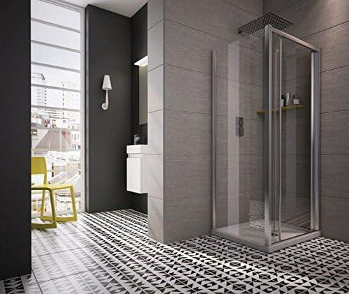 revron Bi-fold puertas de ducha cristal vidrio templado premium ...