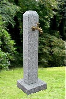 mit Wasserhahn und Verrohrung,Wassers/äule aus echtem frostsicherem Granit Troesters Brunnenwelt Petronell Rosa perfekt f/ür Ihren Garten 101 cm Hoch, 75 kg