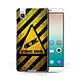 STUFF4 Phone Case / Cover for Huawei Honor 7i/ShotX / Atomic Bomb Design / Hazard Warning Signs Collection