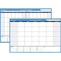 AT-A-GLANCE PM33328 Planificador de pared borrable horizontal sin fecha de 30/60 días, 48 x 32, blanco /azul,