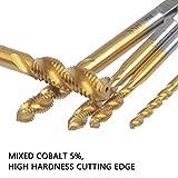 BUYGOO 5 Pcs Spiral Flute Metric Taps Set - M3 M4