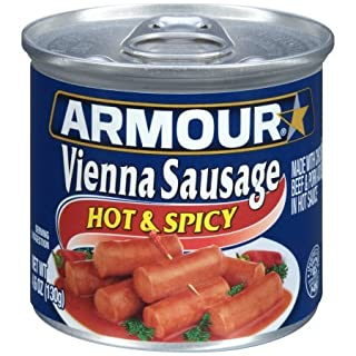 Armour Hot and Spicy Vienna Sausage, 4.6 Ounce (Pack of 6)