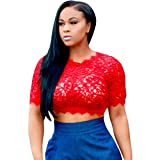 Best Usstore Bustiers - Usstore Women Lace Crochet Crop Tops Short Tank Review