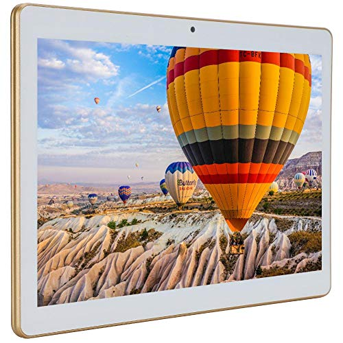 Oumij Bluetooth Tablet,10.1-Inch Full-View Display for Android WiFi 3G Call Tablet 1+16G Golden 110-240V(UK)