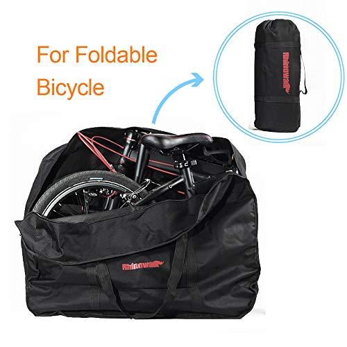 Walmeck- 16/20-inch Bike Travel Bag Case Bicycle Folding Bike Carrier Bag Carry Bag Pouch
