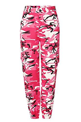 Donna Pants Autunno Calzoni Pantaloni Fashion larghi Invernali mimetici Pantalone Rosa 2018 JOTHIN Skinny Casual Sportive straight xqUUAF