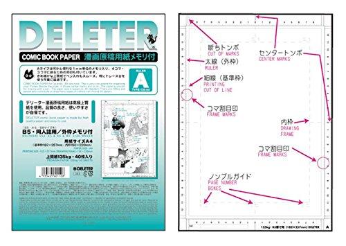 Deleter Comic Book Paper