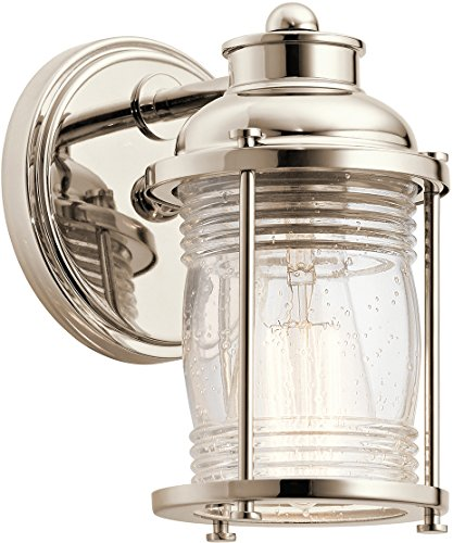 - Kichler 45770PN One Light Wall Sconce