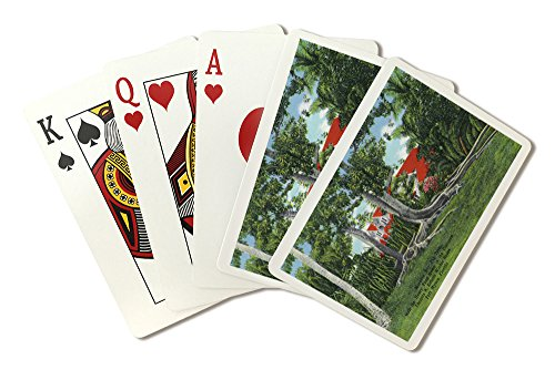 - Fort Myers, Florida - T. Edison Winter Home; View of Moreton Bay Fig Tree and Ford House (Playing Card Deck - 52 Card Poker Size with Jokers)