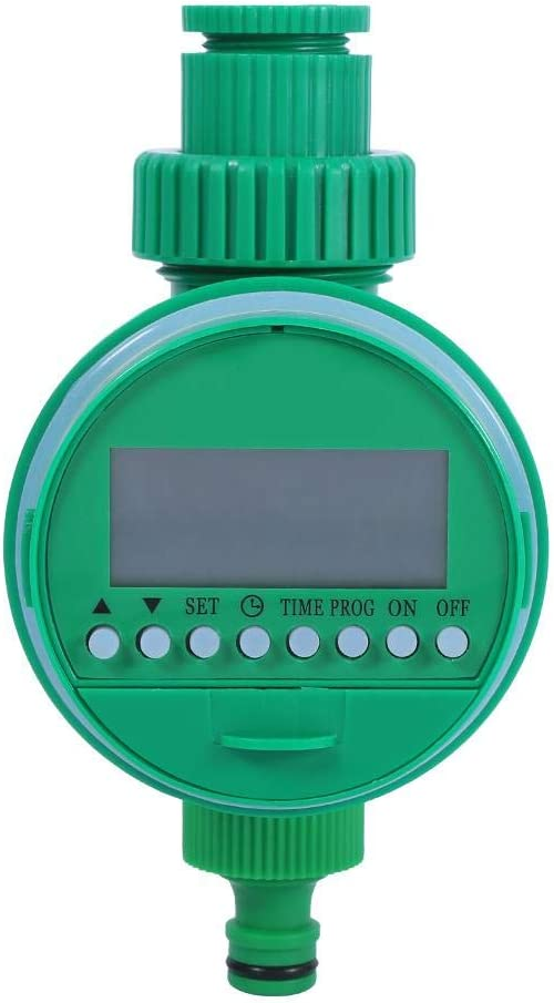 Akozon Water Irrigation Timer Automatic Digital LCD Electronic Home Water Timer Garden Irrigation Controller Programs