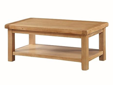 Tavolini Da Salotto In Legno Rustico.The One Newport Tavolino In Legno Massiccio Di Quercia Con