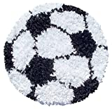 The Rug Market Shaggy Raggy Children's Area Shaped Rug, Soccer Ball