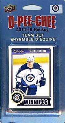Winnipeg Jets 2014 2015 O Pee Chee NHL Hockey Brand New Factory Sealed 16 Card Licensed Team Set Made By Upper Deck Including Zach Bogosian, Evander Kane, Blake Wheeler, Dustin Byfuglien and More