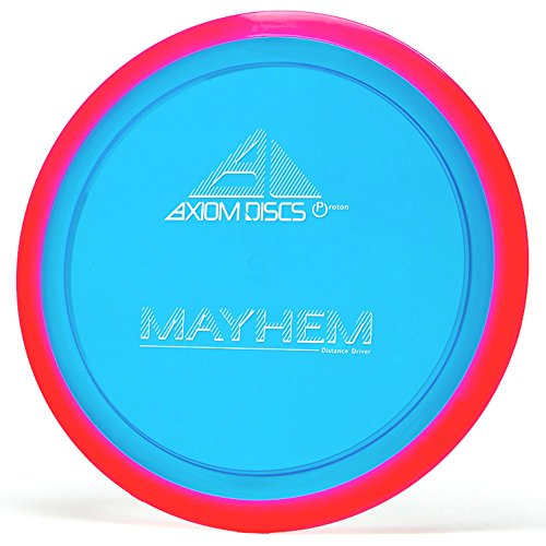 Axiom Disc Sports Proton Mayhem Disc Golf Distance Driver (165-170g / Colors May Vary) (Best Distance Driver Disc)