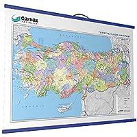 Gürbüz Yayınları 25020 Kabartma Türkiye Siyasi 70 X 100