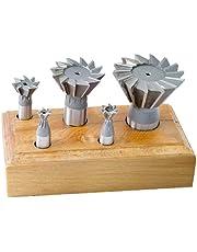 HHIP 2006-0205 5 Piece HSS Dovetail Cutter Set, 3/8-1-7/8 Inch