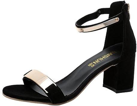 SANDALES À TALON Lanières Talons Hauts Cuir Beige Chaussures