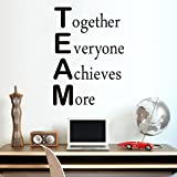 MoharWall Wall Decal Team Motivational Quote Office Inspirational Sticker Together Everyone Achieves More Decor