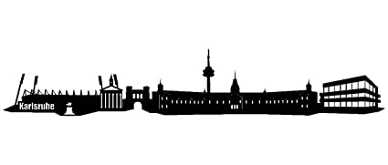 Wall Sticker Karlsruhe Skyline Design Black 070 100 X 17 5cm