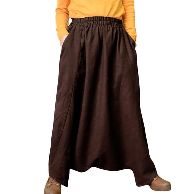 Sylar Pantalones Mujer Tallas Grandes Elegantes, Moda Color Sólido ...