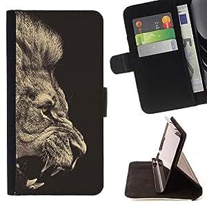 Momo Phone Case / Flip Funda de Cuero Case Cover - Roaring Lion Golden Eye;;;;;;;; - Apple Iphone 4 / 4S
