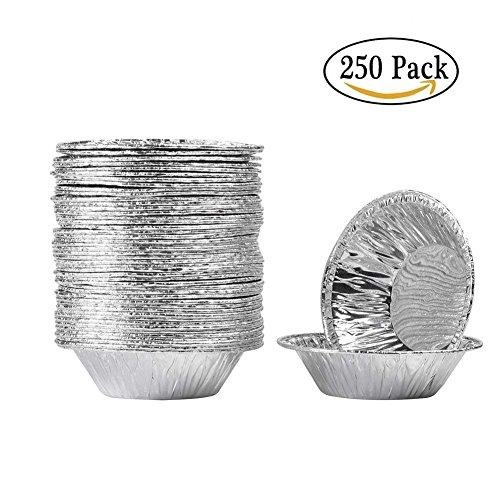 CHDHALTD 250Pcs Disposable Egg Tart Molds Aluminum Cupcake Cake Cookie Mold Tin Baking Tool Baking Cups by CHDHALTD