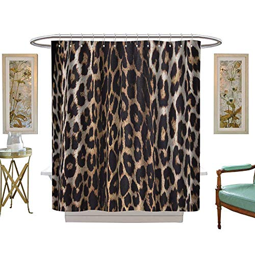 luvoluxhome Shower Curtain Collection by Textile Leopard W72 x L84 Custom Made Shower Curtain