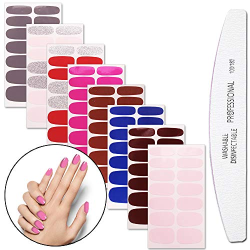 WOKOTO 8 Sheets Nail Polish Stickers With 1Pcs Nail for sale  Delivered anywhere in USA