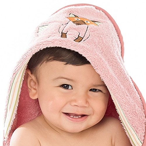 Baby & Toddler Hooded Towel (Ages 0-3), Playful Fox Woodland Collection (Soft Teddy Bear Terry)