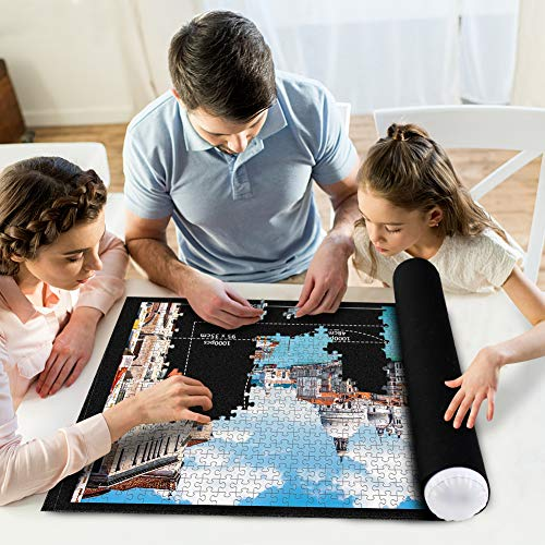 3 otters Jigsaw Puzzle Mat, Jigsaw Storage Felt Mat Jigsaw Puzzle Mat Roll Up Children Adult Puzzle Accessories Suitable for 300 500 1,000 1,500pcs Puzzle