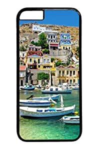 Greece Coast View Polycarbonate Hard Case Cover for iphone 6 4.7 inch Black