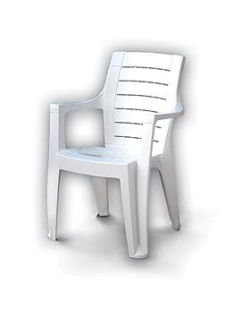 Silla sillón de resina apilable de jardín terraza Cleopatra ...
