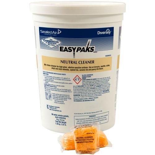 Easy Paks Neutral Floor Compressed Powder Packet - 90 per pack - 2 packs per case.