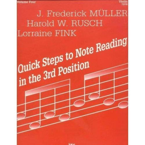 Fink/Muller/Rusch - Quick Steps To Note Reading, Book 4 - Violin - Neil A Kjos Music - Violin Reading Note