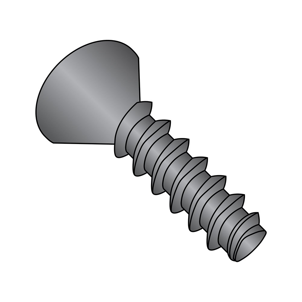 Phillips Drive Pack of 100 3//4 Length #4-20 Thread Size Steel Thread Rolling Screw for Plastic 82 Degree Flat Head Black Oxide Finish