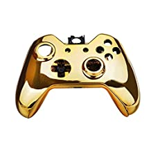 Kobwa Wireless Controller Replacement Mod Kit Plating Shell Case for Xbox One Wireless Controller Chrome Gold