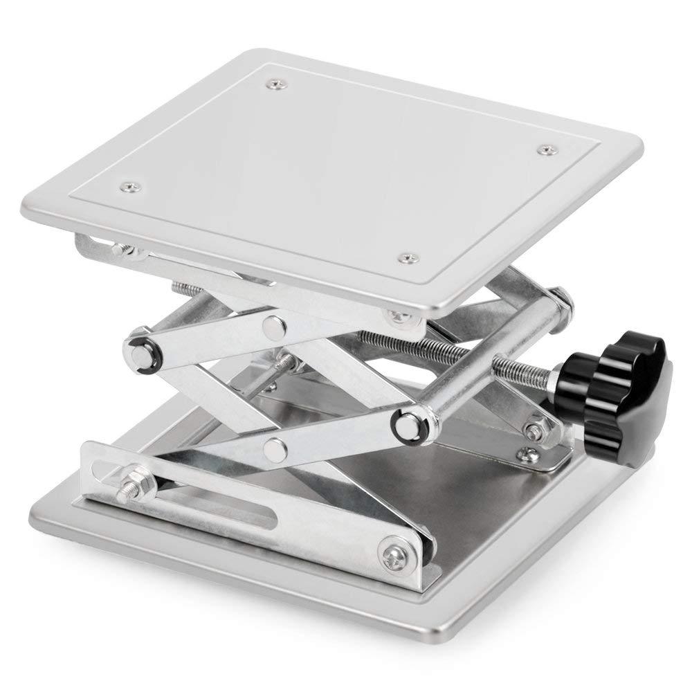 Poids de Support 5 KG Hauteur de Levage Extensible de 45 /à 150mm Table de Levage Plate-Forme de Laboratoire en Acier Inoxydable stonylab Table /Él/évatrice de Laboratoire 100 x 100mm