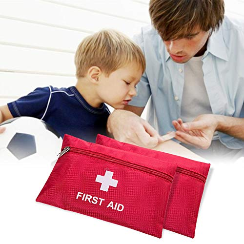 FATE TO FATE Mini First Aid Kits,79Pieces Small First Aid Kit - Includes PBT Bandge,Medical Gauze Sheet,Scissors for Travel, Home, Office, Hiking,Camping&Vehicle (Red)