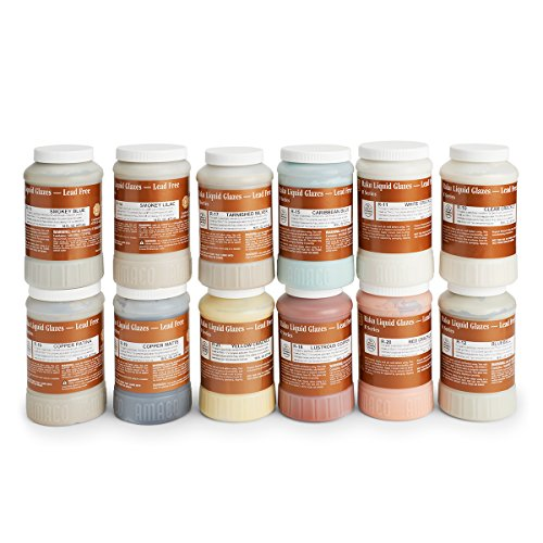 Amaco Raku Glazes - Set of 12 Colors - Pints