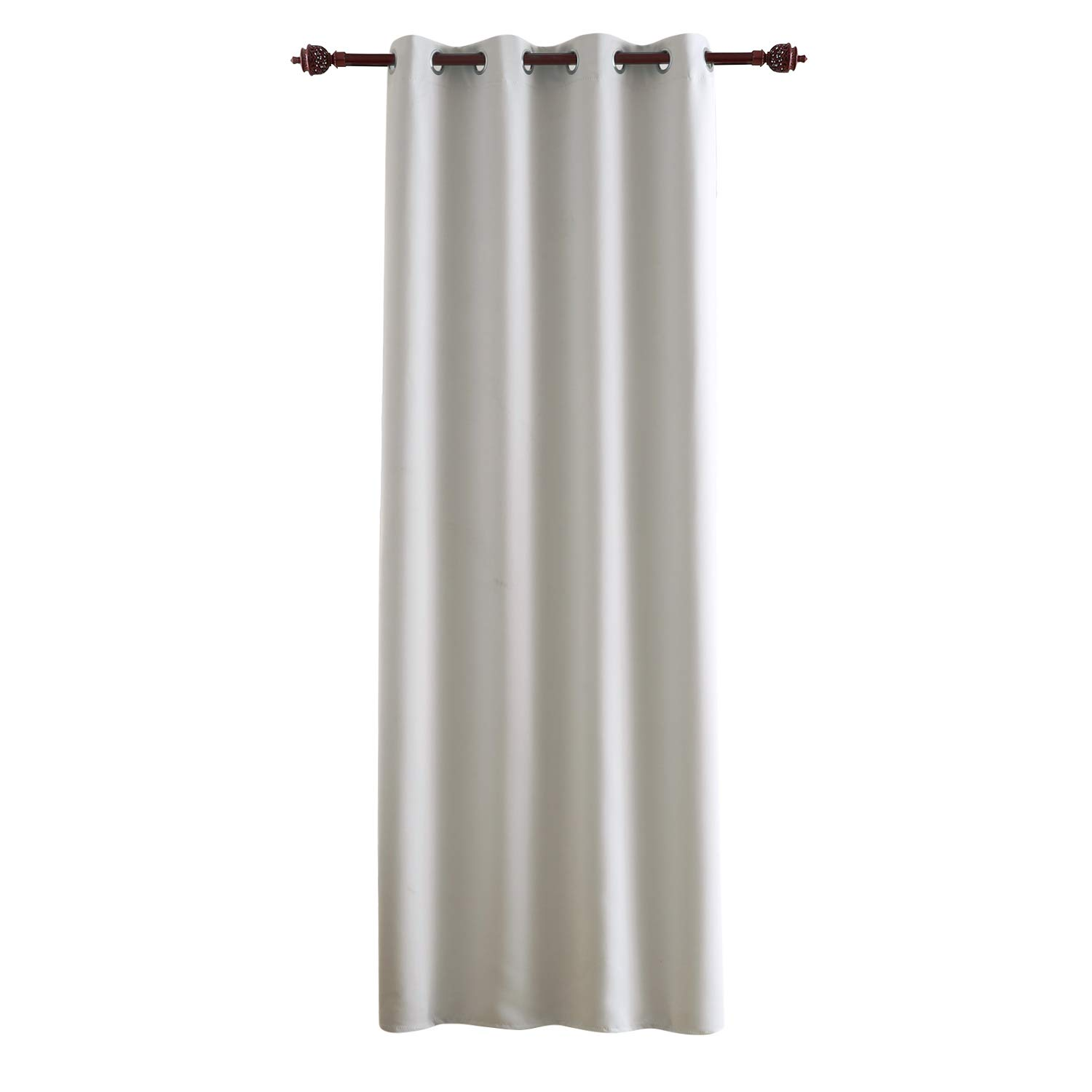 Deconovo Eyelet Window Curtain Thermal Curtain Solid Blackout Curtain for Bedroom 140x180 cm Beige One Panel